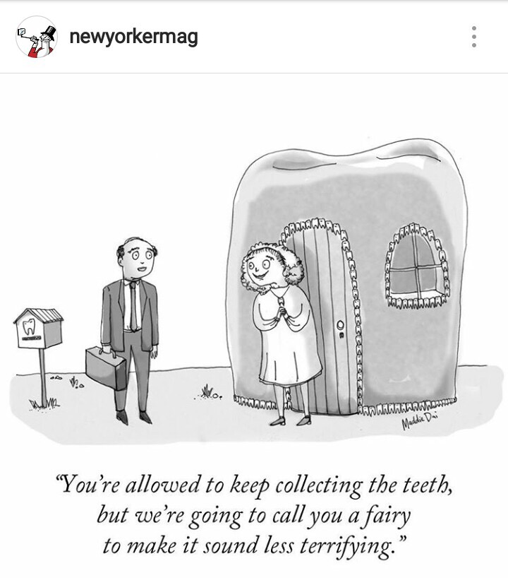 Recent New Yorker Cartoon about the Tooth Fairy